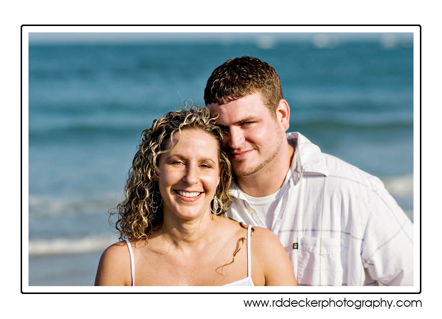 Zack and Tina together on a beautiful May afternoon at the sea shore.