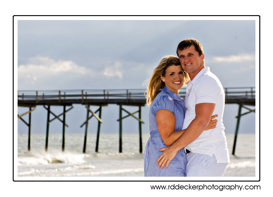 Devin & Jordan in front of the Oceanic Pier, Atlantic Beach, NC