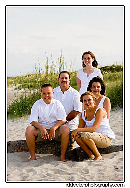 A family photo on one of the Crystal Coast's lovely beaches.